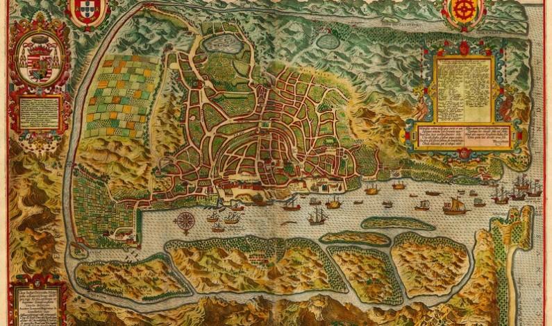Goa, India, 1596, Linschoten map