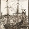 Padre Eterno Galleon, one of the biggest ships of its kind at that time 1665