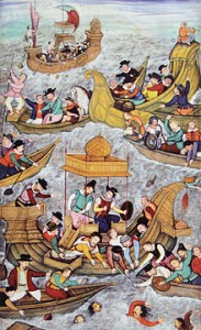 220px-Death_of_Sultan_Bahadur_in_front_of_Diu_against_the_Portuguese_1537_Akbar_Nama_end_of_16th_century