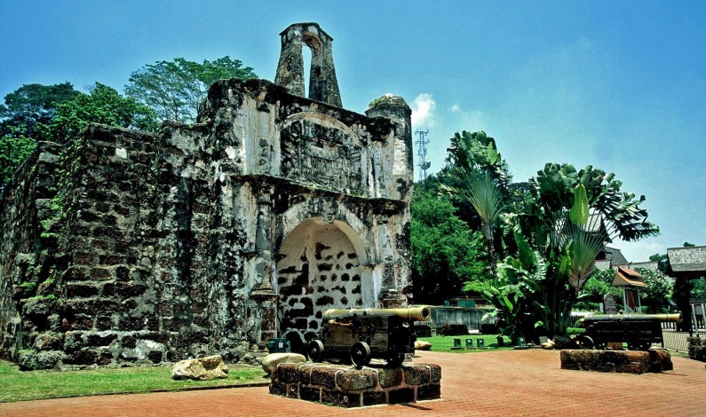 A Famosa Fortress, in Malacca